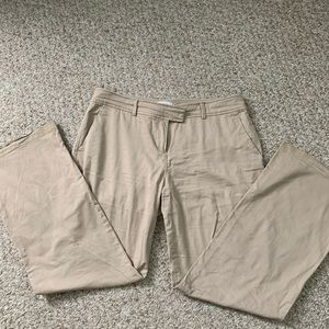 Light weight Biot cut pants. Tan in color